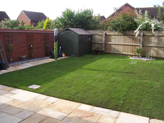 Patio Slabs and Turf Laid MR Parker Builders Lincolnshire